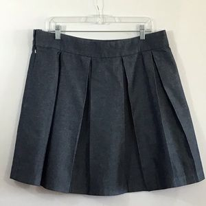 Tommy Hilfiger Pleated Cotton Skirt Schoolgirl